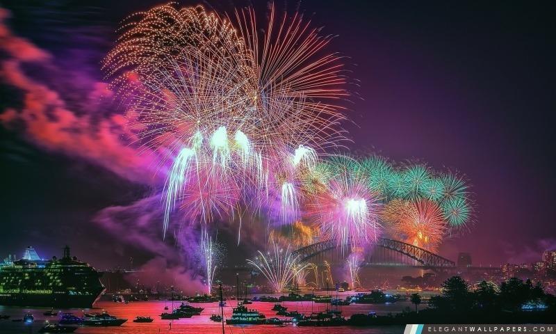 Feux d'artifice du Nouvel An, Arrière-plans HD à télécharger