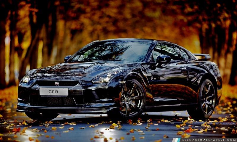 Nissan Skyline GTR automne, Arrière-plans HD à télécharger