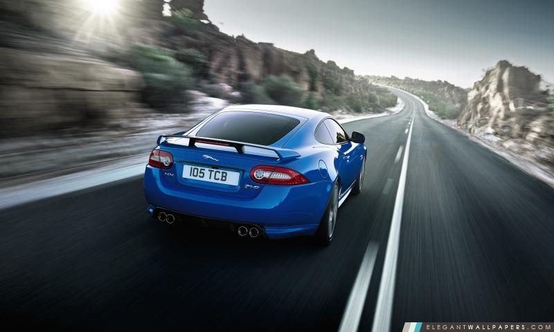 Jaguar XKR S Bleu, Arrière-plans HD à télécharger