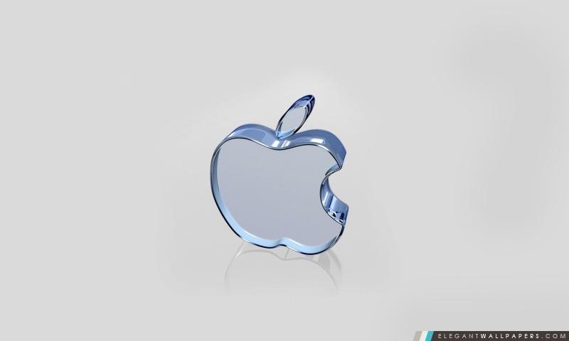 Logo d'Apple en verre, Arrière-plans HD à télécharger