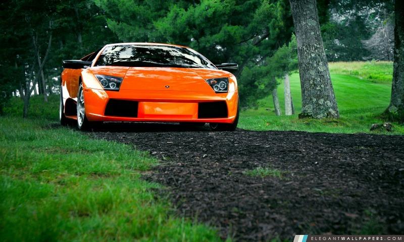 Lamborghini Murcielago orange, Arrière-plans HD à télécharger