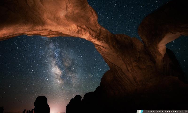 Cieux nocturnes dans l'Utah, Arrière-plans HD à télécharger