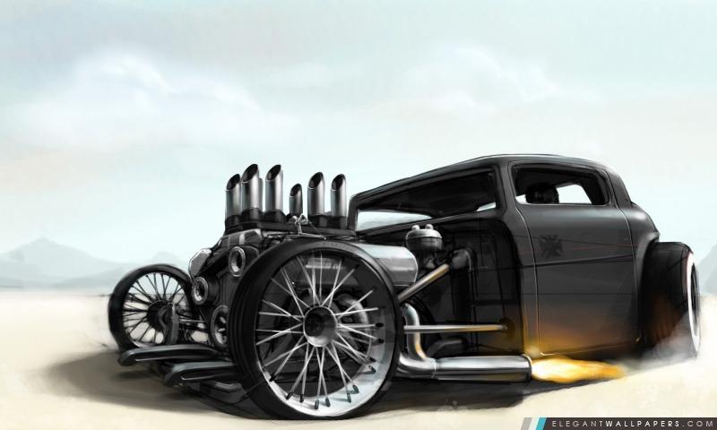 Ford Hotrod Dessin, Arrière-plans HD à télécharger
