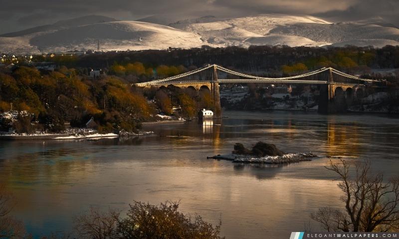 Mountain City Pont, Arrière-plans HD à télécharger