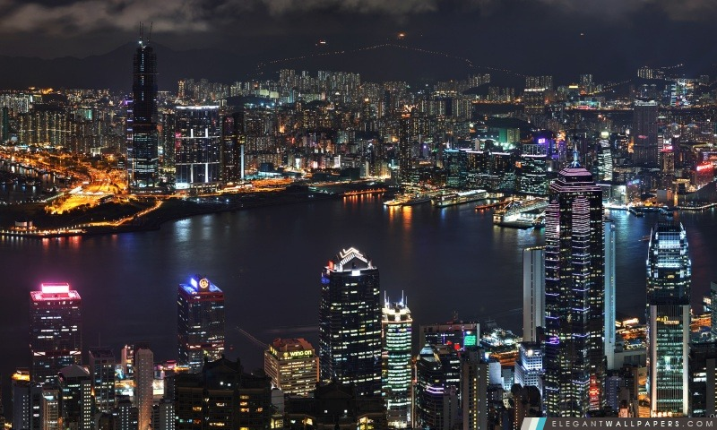 Hong Kong Skyline, Arrière-plans HD à télécharger