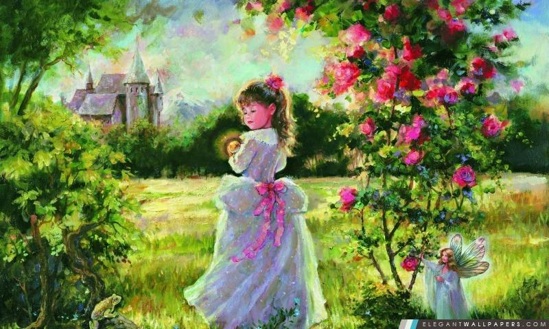 Little Princess peinture, Arrière-plans HD à télécharger