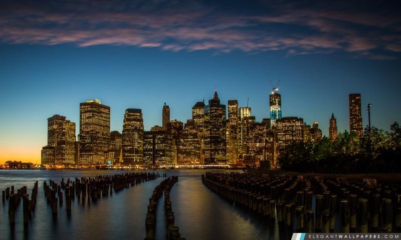 New York City Downtown, Arrière-plans HD à télécharger