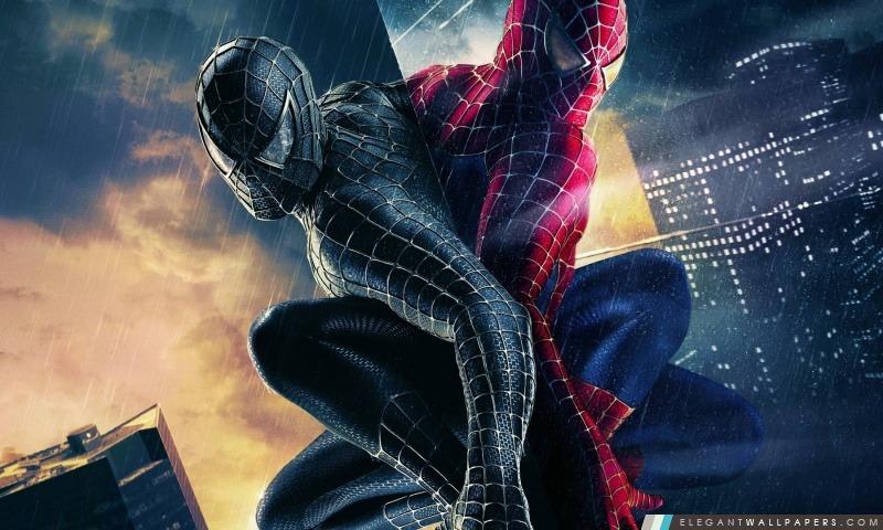 Noir et couleur Spiderman, Arrière-plans HD à télécharger