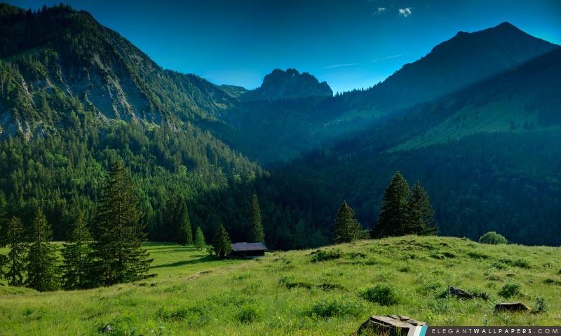 Chalet dans le coeur des montagnes, Arrière-plans HD à télécharger