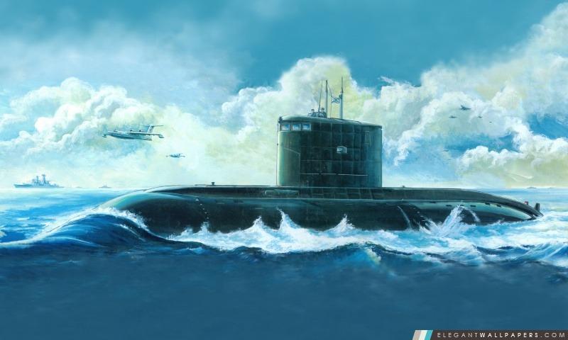 Sous-marin Peinture, Arrière-plans HD à télécharger