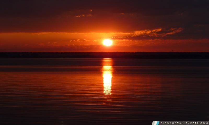 Coucher Du Soleil Rouge Fond Décran Hd à Télécharger