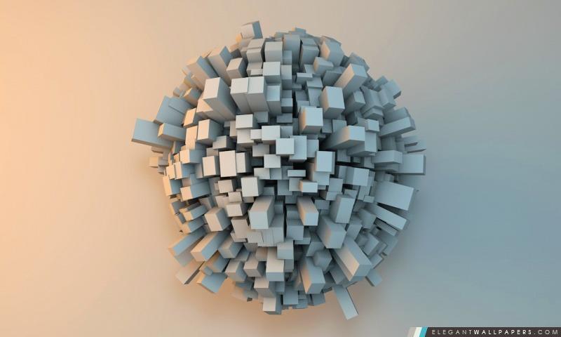Cubique Sphère, Arrière-plans HD à télécharger
