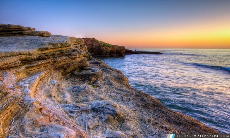 Roches de Sunset Cliffs, Arrière-plans HD à télécharger