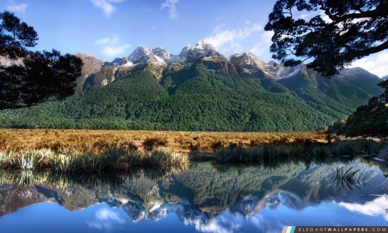 Mirror Lake En Nouvelle Z 233 Lande Fond D 233 Cran Hd 224