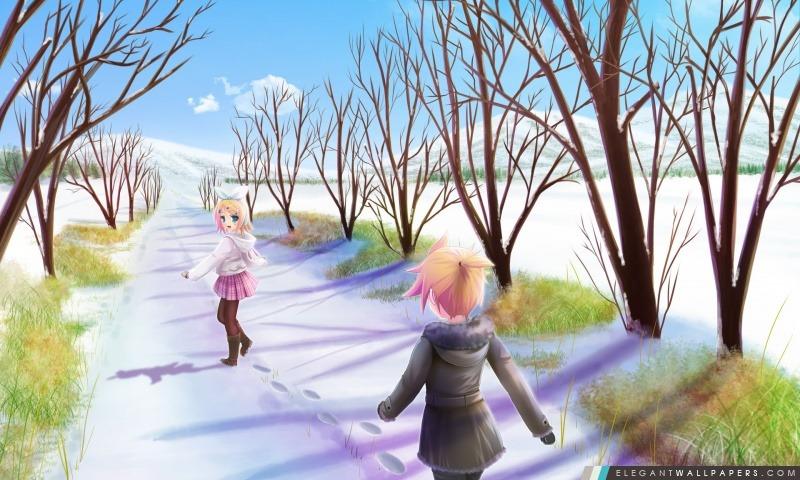 Scène Anime Hiver Fond Décran Hd à Télécharger Elegant