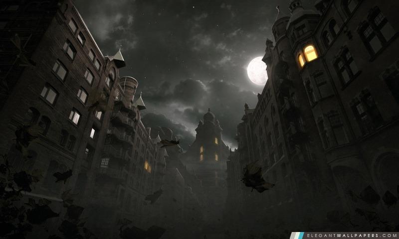 Dark City Scène d'automne, Arrière-plans HD à télécharger