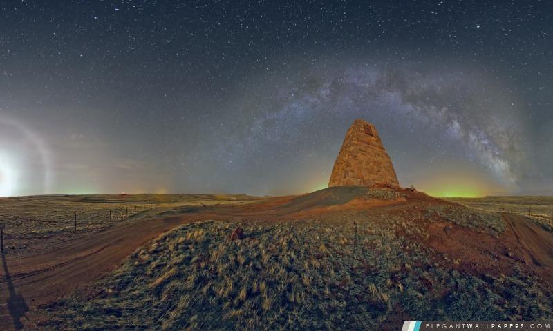 Monument Panorama, Night Time, Arrière-plans HD à télécharger