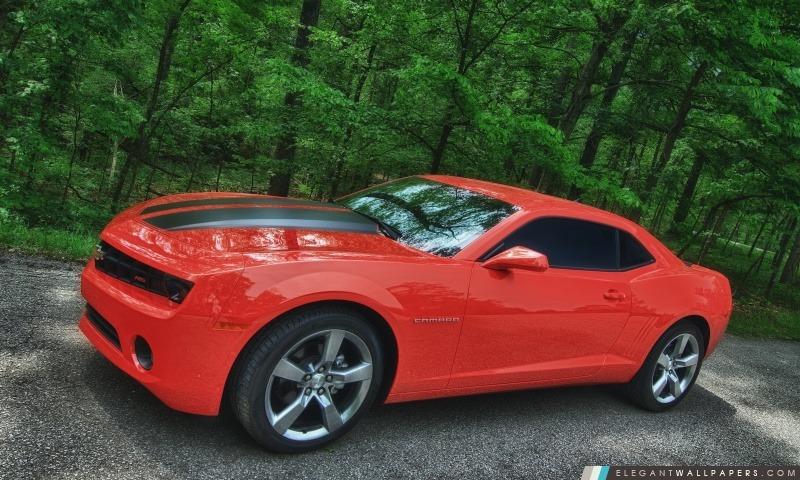 Chevy Camaro orange, Arrière-plans HD à télécharger
