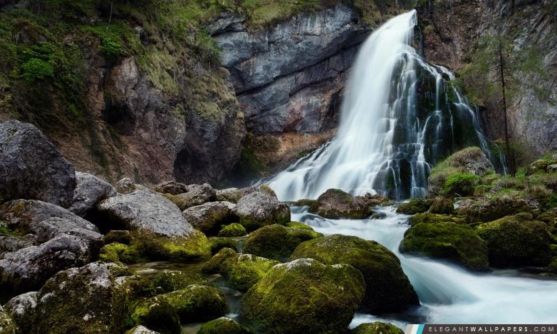 Cascade Mountain Exposure long, Arrière-plans HD à télécharger