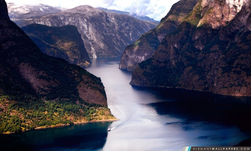 Magnifique Fjord, Arrière-plans HD à télécharger