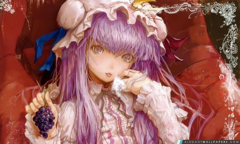 Anime Girl aux cheveux roses, Arrière-plans HD à télécharger