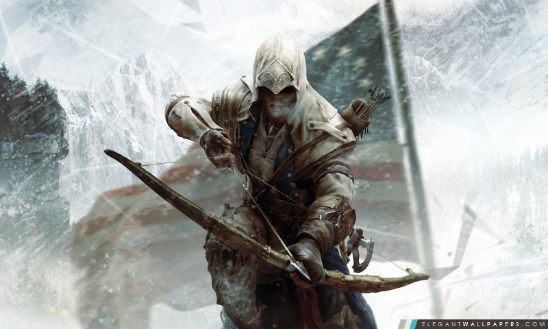 Creed 3 Connor Bow Assassin, Arrière-plans HD à télécharger