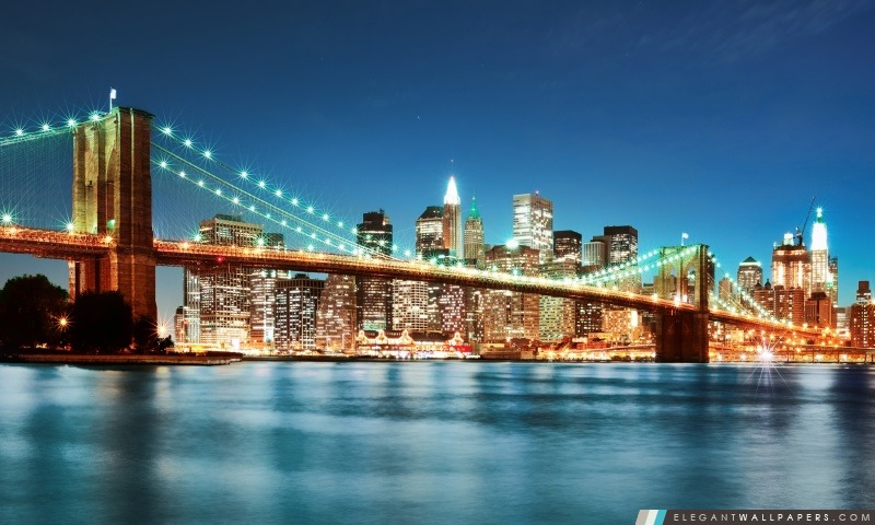 De New York City Night Lights, Arrière-plans HD à télécharger