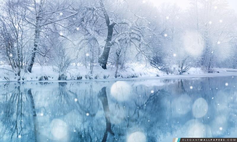 Les chutes de neige, Arrière-plans HD à télécharger