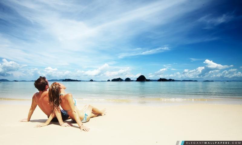 Amour sur la plage, Arrière-plans HD à télécharger