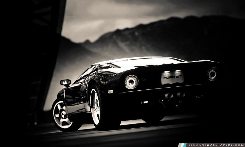 Ford GT noir, Arrière-plans HD à télécharger