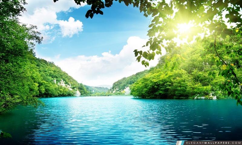 Paisible lac, Arrière-plans HD à télécharger