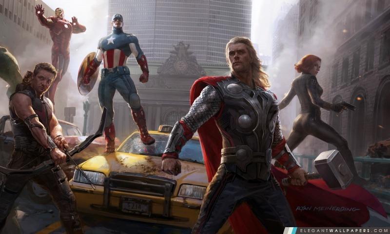 Avengers Assemble!, Arrière-plans HD à télécharger
