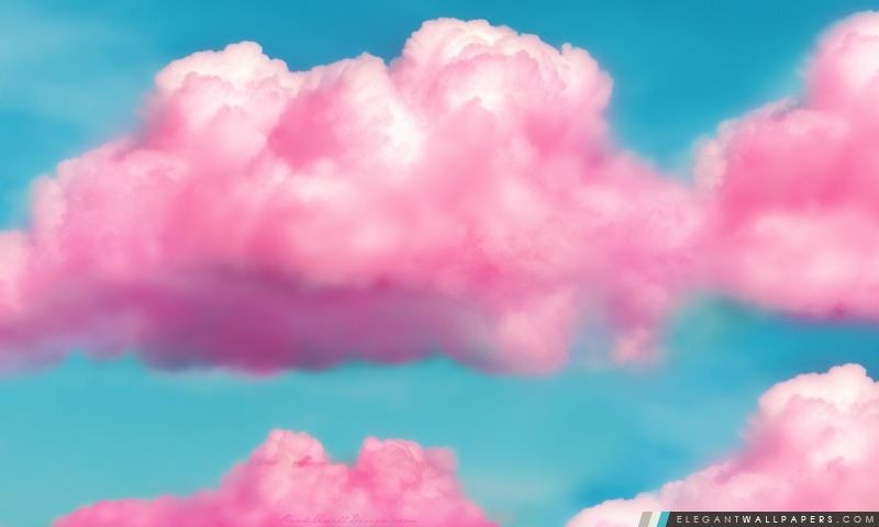 Rose Fluffy Clouds Fond D Ecran Hd A Telecharger Elegant Wallpapers