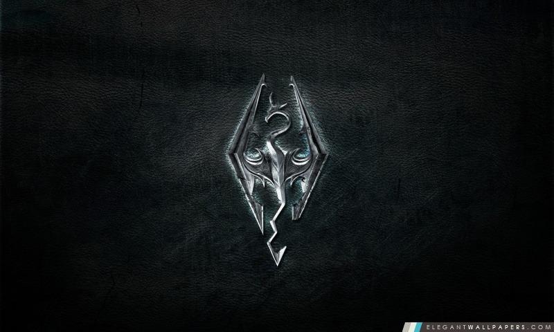 Logo Skyrim, Arrière-plans HD à télécharger
