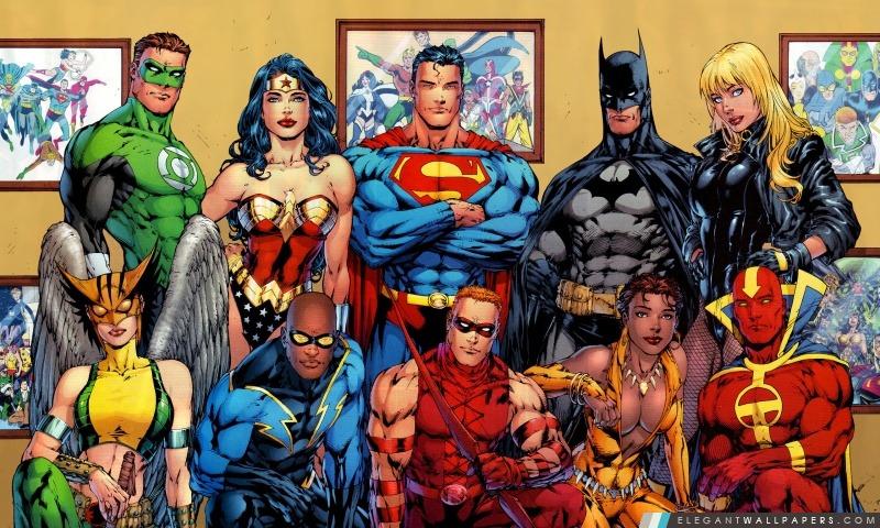 Dc Comics Superheroes Fond D Ecran Hd A Telecharger Elegant Wallpapers
