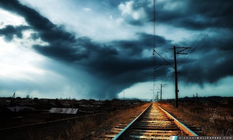 Arménie, Gyumri, tempête, Arrière-plans HD à télécharger