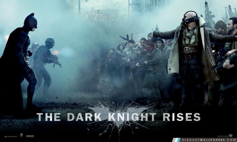 The Dark Knight Rises Bane vs Batman, Arrière-plans HD à télécharger