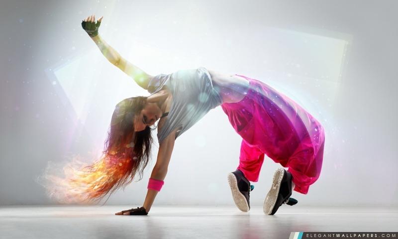 Breakdance fille, Arrière-plans HD à télécharger