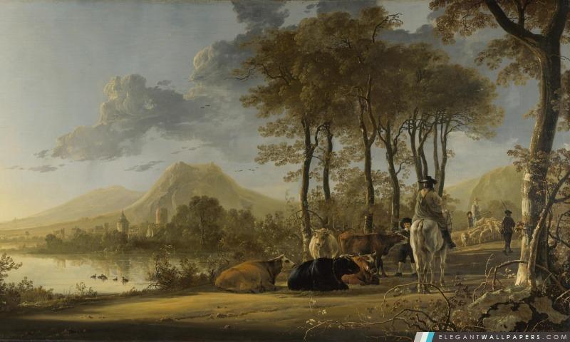 Aelbert Cuyp peinture, Arrière-plans HD à télécharger