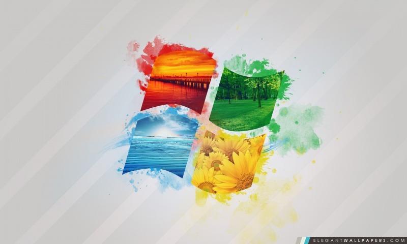 Nature de Windows Logo, Arrière-plans HD à télécharger