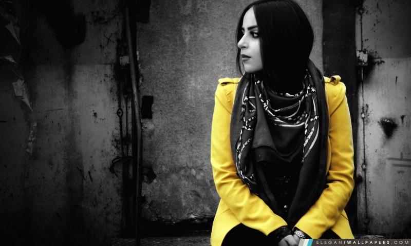 Arménie, Ann robe jaune dans, Arrière-plans HD à télécharger