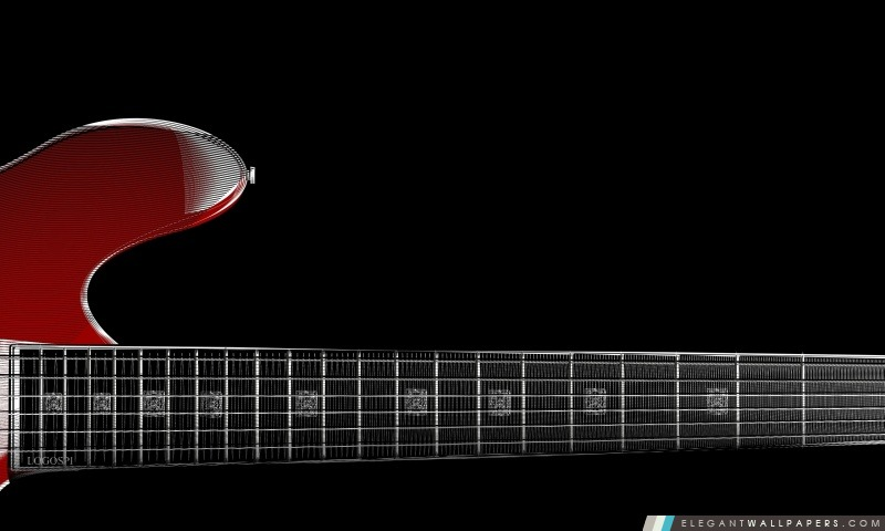 Zoom Guitare rouge, Arrière-plans HD à télécharger