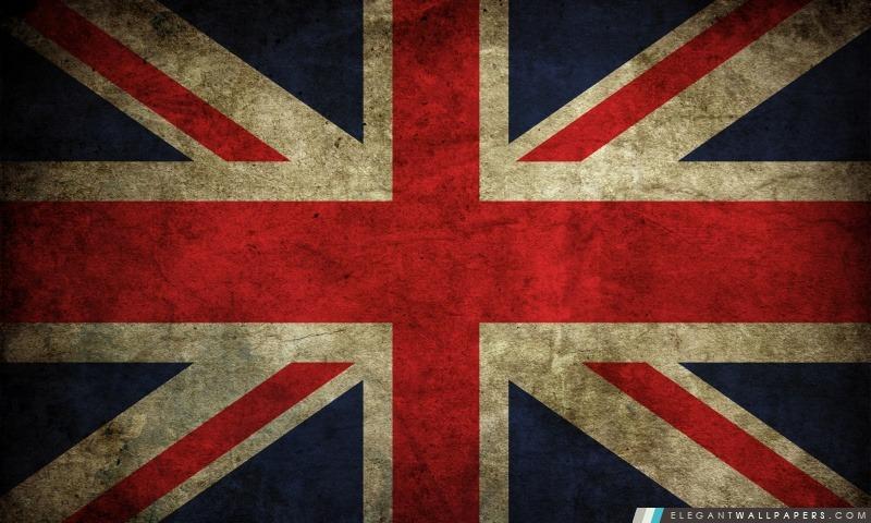 Grunge drapeau du Royaume-Uni Union Jack, Arrière-plans HD à télécharger