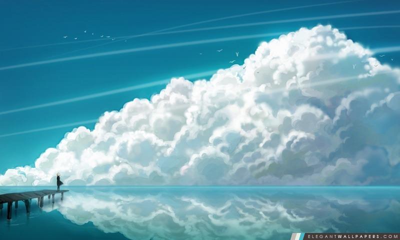 Nuages de ciel, Arrière-plans HD à télécharger