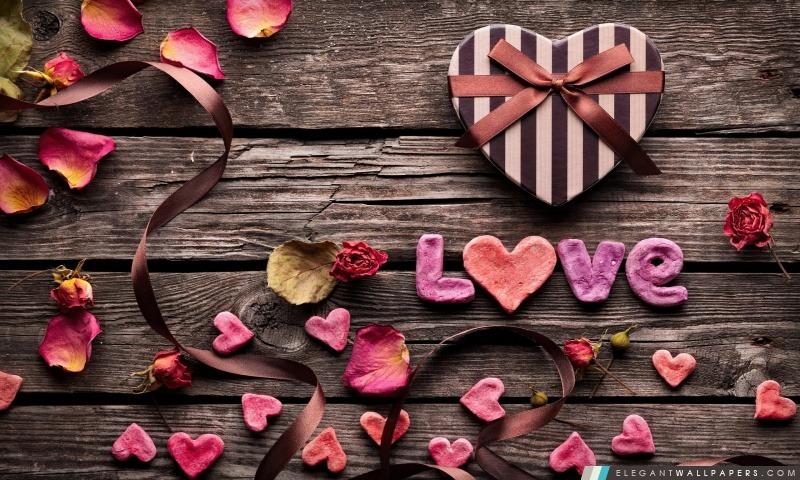 Cadeau Saint Valentin, Arrière-plans HD à télécharger