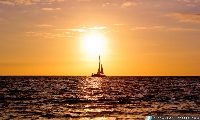Coucher du soleil à Big Island, Arrière-plans HD à télécharger