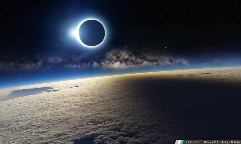 Eclipse Solaire De L Espace Fond D Ecran Hd A Telecharger Elegant Wallpapers