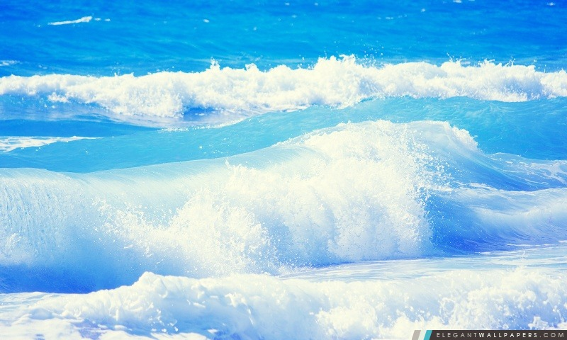 Vagues de la mer, Arrière-plans HD à télécharger
