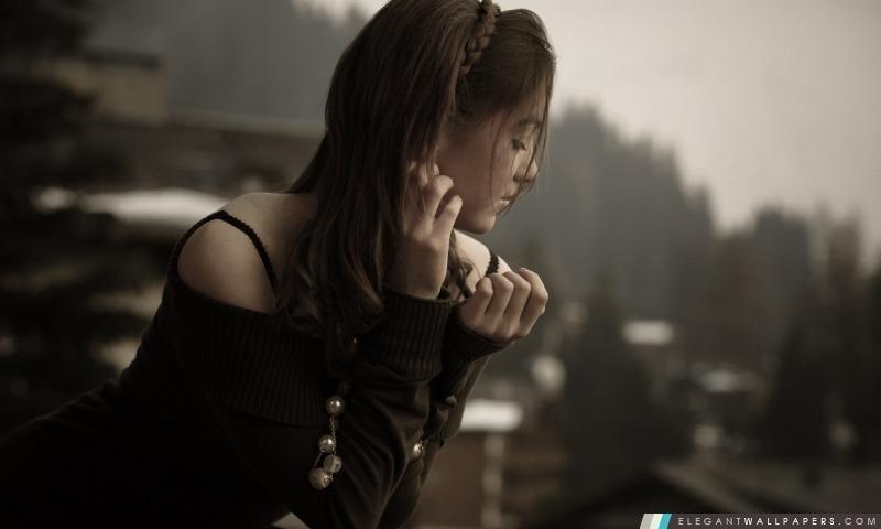 Lonely Girl, Arrière-plans HD à télécharger