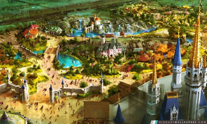 Au-dessus de Fantasyland, Arrière-plans HD à télécharger